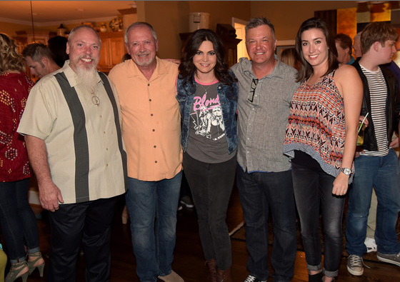 Angaleena Presley kicked off the 2014 IEBA Conference in Nashville, TN on Saturday, Sept. 27 with a performance at SiriusXM's Media Mixer Party showcasing songs from her Oct. 14 solo debut, American Middle Class. (L-R): John Marks, SiriusXM Sr. Director of Country Programming; Gil Cunningham, Neste Event Marketing President; Angaleena Presley; Buzz Brainard, SiriusXM Host; and Nicole More, Neste Event Marketing VP of Sales/Entertainment Producer