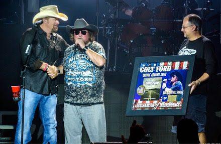 Toby Keith, Colt Ford, Tony Morreale. Photo: Andrew Wendowski