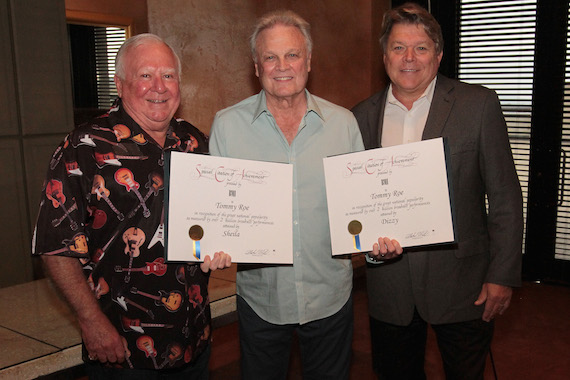 (Pictured L-R): Mike Borchetta, Tommy Roe, David Preston
