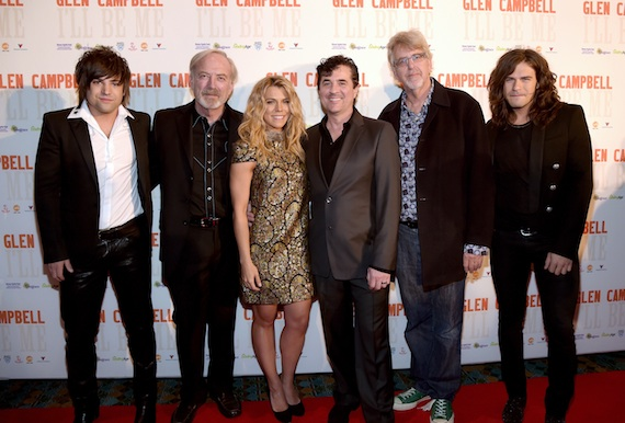 Pictured (L-R): Neil Perry, James Keach, Kimberly Perry, Scott Borchetta, Trevor Albert, Reid Perry.
