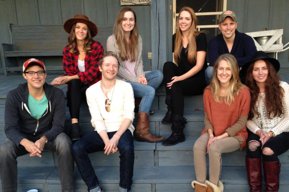 Pictured (L-R, bottom): Ben Cooper, Gavin Slate, Melissa Fuller, Hannah Blaylock, top row left to right, Jillian Jacqueline, Kat Higgins, Kellys Collins and Andy Albert.