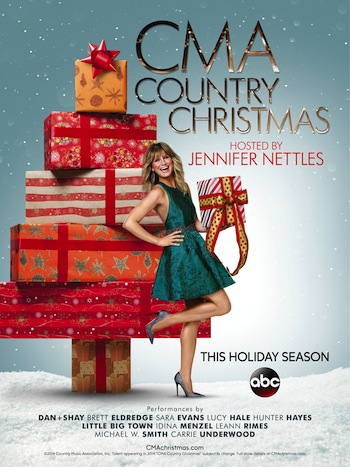 """Artwork for """"CMA Country Christmas"""" airing in the holiday season of 2014."""