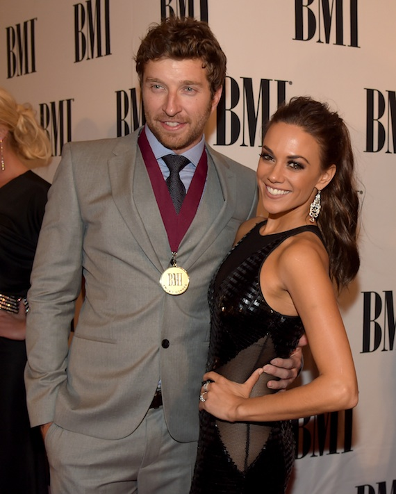 Brett Eldredge and Jana Kramer attend the BMI 2014 Country Awards. Photo: Rick Diamond/Getty Images for BMI