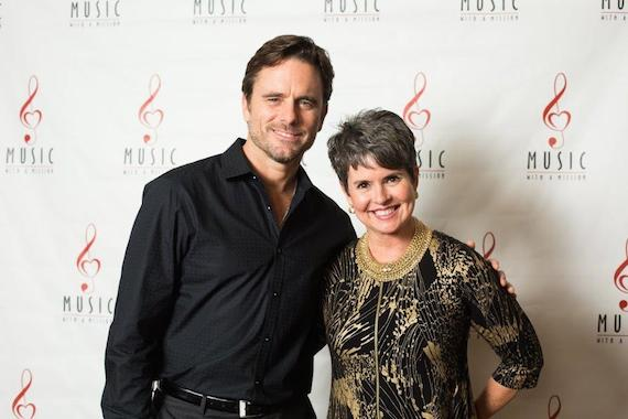 Pictured (L-R): Chip Esten, comedian, actor and singer, and Demetria Kalodimos, WSMV-TV anchor