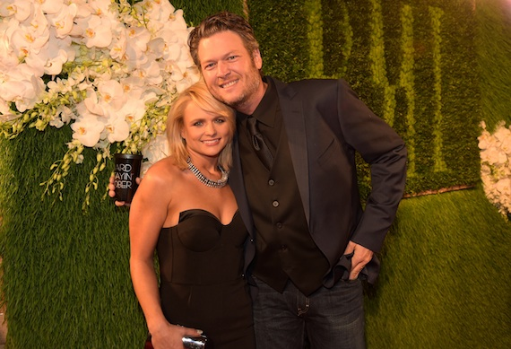 Pictured (L-R): Miranda Lambert and Blake Shelton at the BMI Country Awards. Photo by Rick Diamond/Getty Images for BMI