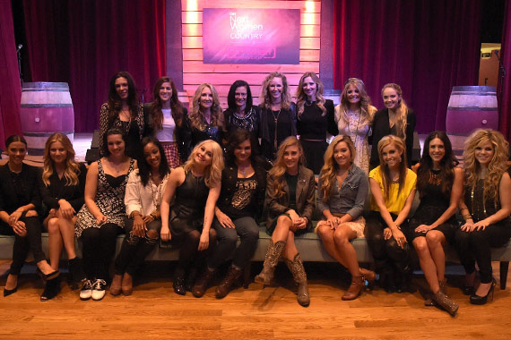 Pictured (L-R) front: Jana Kramer, Kelsea Ballerini, Rachel Farley, Mickey Guyton, RaeLynn, Angaleena Presley, Maddie Marlow (Maddie & Tae), Tae Dye (Maddie & Tae), Lindsay Ell, Kelleigh Bannen, Natalie Stovall; Back (L-R): Rose Falcon, Cassadee Pope, Lee Ann Womack, Leslie Fram, CMT SVP of Music Strategy, Kristen Kelly, Sarah Darling, Lauren Alaina, Danielle Bradbery. Photo: Rick Diamond/Getty Images