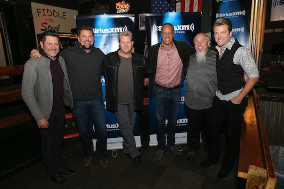 Pictured (L-R): Rascal Flatts Jay DeMarcus, SiriusXM's Storme Warren, Rascal Flatts Gary LeVox, TODAY's Lester Holt, SiriusXM's John Marks and Rascal Flatts Joe Don Rooney