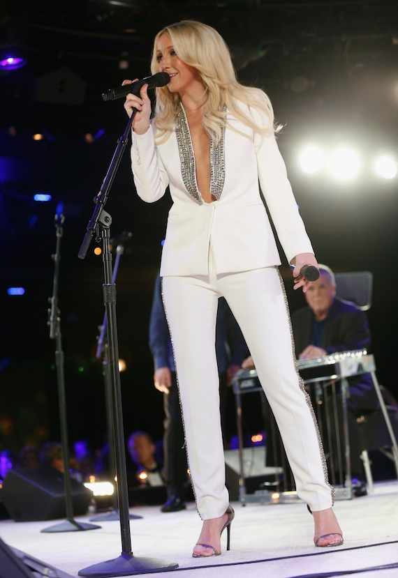 Ashley Monroe performs ?? in tribute to Vince Gill. Photo: John Russell/BMI