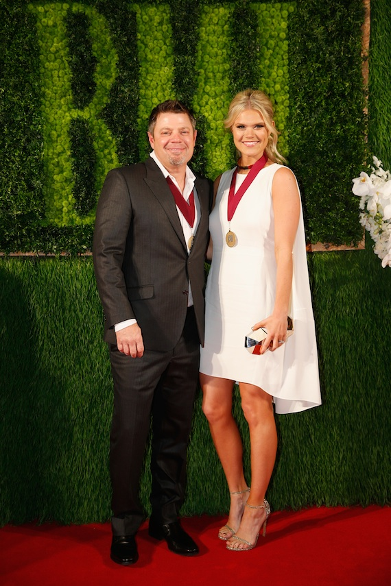 Rodney Clawson (L) and Nicolle Galyon attend the BMI 2014 Country Awards. Photo: John Russell/BMI