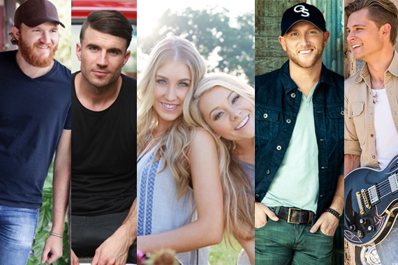 2015 CRS New Faces. Pictured (L-R): Eric Paslay, Sam Hunt, Maddie & Tae, Cole Swindell, Frankie Ballard.