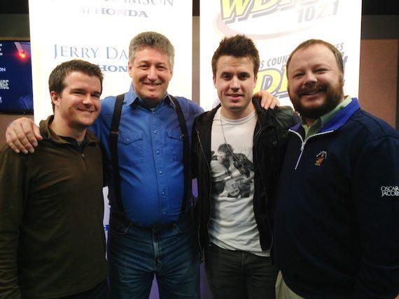Pictured (L-R): RCA's Parker Fowler, WDRM Huntsville MD AJ McCloud, Josh Dorr, RCA's Josh Easler
