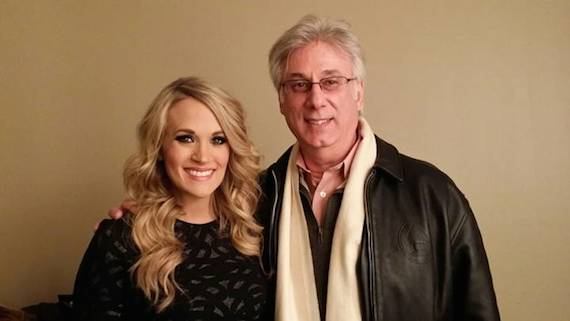 Pictured (L-R): Carrie Underwood and Cumulus Nashville's Charlie Cook