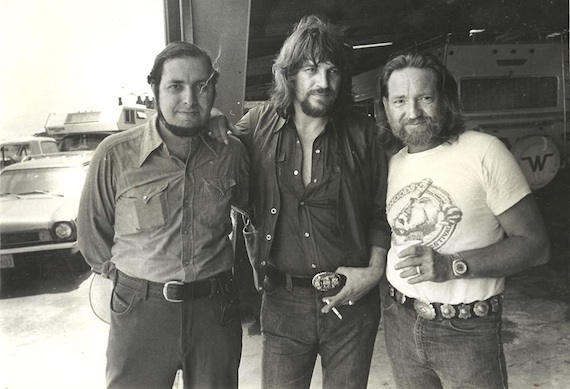 Pictured (L-R): Neil Reshen with clients Waylon Jennings and Willie Nelson.