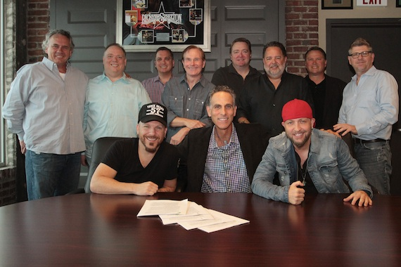 Pictured: (L-R, back row) Sony Red's Dewayne Brown, Webster PR's Kirt Webster, Paradigm's Brian Hill, Butch Waugh, Star Farm's Matt Corbin, Conway Ent. Group's Tony Conway, Paradigm's Bob Kinkead and Star Farm's Michael Powers. (L-R, front row): Chris Lucas, Reviver President/CEO David Ross, Preston Brust.