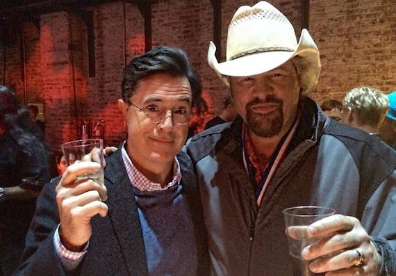 Stephen Colbert and Toby Keith.