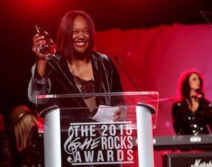 2015 She Rocks Awards Acceptance Photo1