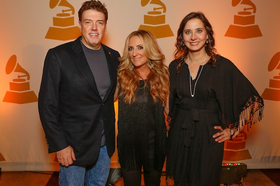 Pictured (L-R):  Frank Liddell, co-producer of the nominated Best Country Album The Way I'm Livin', Lee Ann Womack, GRAMMY nominee for The Way I'm Livin', and Alicia Warwick, Executive Director, The Recording Academy, Nashville Chapter.