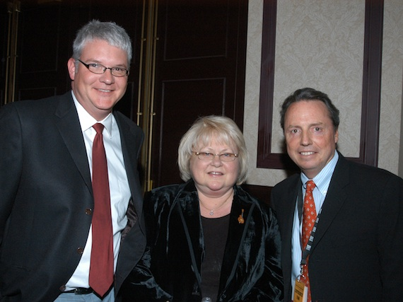 Pictured (L-R): Perry, Dixie Hall, and Jody Williams. Photo: Alan Mayor
