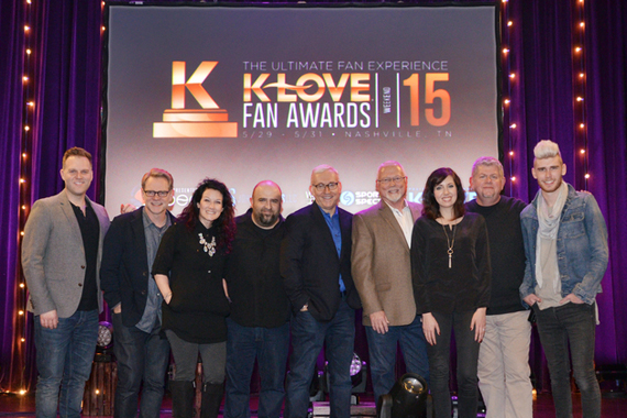 Pictured (L-R): Matthew West, Steven Curtis Chapman, Plumb, John Sanders (Co-Creator and Producer), Jon Klein (TAPP Co-Founder and CEO), Mike Novak (K-LOVE President and CEO), Francesca Battistelli, David Pierce (K-LOVE CCO) and Colton Dixon. Photo: Aaron Crisler
