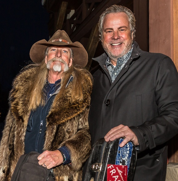 Pictured (L-R): Festival host and 2013 BMI Country Icon Dean Dillon poses with fellow BMI songwriter Robert Earl Keen after a performance.