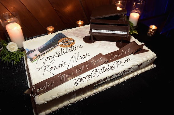 A birthday cake created for Ronnie Milsap's 72nd birthday party.