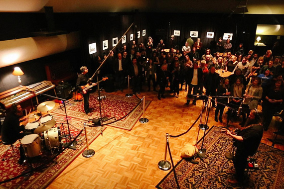 """Chris Stapleton records new version of """"Sometimes I Cry"""" live-to-tape in front of guests at RCA Studio A  on January 22, 2015."""