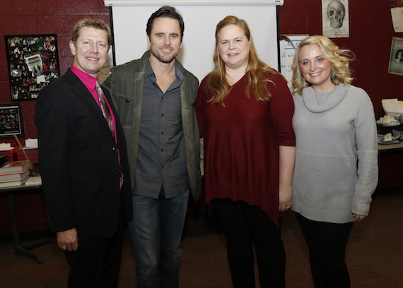 Pictured (L-R): Dr. Gregory Stewart, Nashville School of the Arts Executive Principal; Charles Esten; Kara Kindall, Nashville School of the Arts theater instructor; Tiffany Kerns, CMA Community Outreach Manager.  Photo: Donn Jones/CMA