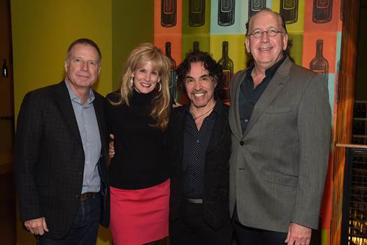 Pictured (L-R): Bill Hearn (President & CEO, EMI Christian Music Group, T.J. Martell Foundation Board Member), Laura Heatherly (CEO, TJ Martell Foundation), John Oates, John Esposito (President & CEO, WMN, T.J. Martell Foundation Board Member)