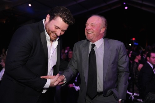 Chris Young and Academy Award-nominated actor James Caan. Photo: YoungArts Foundation