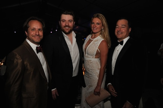 Paul Lehr (YoungArts President and CEO), Chris Young, Sarah Arison (Arison Arts Foundation), Facundo Bacardi (Apache Capital LLC; Chairman of the Board, Bacardi Limited). Photo: YoungArts Foundation