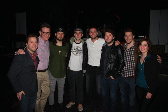 Pictured (L-R): YEP's Marc Rucker, BMI's Perry Howard, The Lookout's Tyler Filmore & John Gurney, Drew Baldridge, Ryan Beaver, YEP's Andrew Cohen and BMI's Brooke Ivey