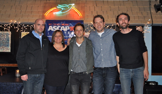 Pictured (L-R): ASCAP's Robert Filhart, Marla Cannon-Goodman, Aaron Eshuis, Matt Jenkins and Josh Jenkins. Photo: ASCAP's Alison Toczylowski.