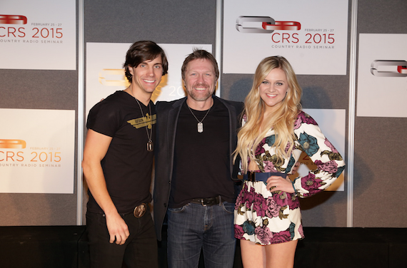 Pictured (L-R): John King, Craig Morgan, Kelsea Ballerini