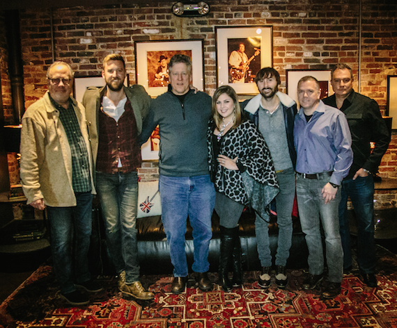 Pictured (L-R): Mike Dungan (UMG), Charles Kelley, John Huie (CAA), Hillary Scott, Dave Haywood, Daniel Miller (Fusion Music), Ed Green (Red Light Management).