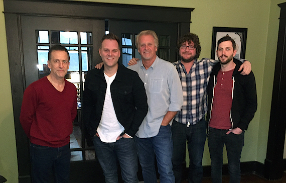 Pictured (L-R): John C. Beiter (Shackelford, Bowen, Zumwalt, & Hayes), Matthew West, Combustion Music's Chris Farren, Chris Van Belkom and Kenley Flynn.