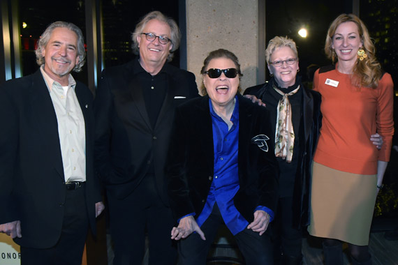 Pictured are (L-R): Gold Mountain Entertainment's Burt Stein, The Country Music Hall of Fame and Museum's Kyle Young, Ronnie Milsap, and the Country Music Hall of Fame and Museum's Carolyn Tate and Lisa Purcell. Photo: Rick Diamond.