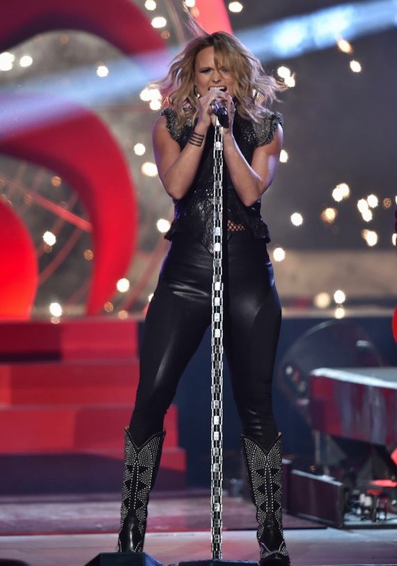 "Miranda Lambert performs ""Little Red Wagon"" during the 57th annual Grammy Awards. Photo: Grammy.com"