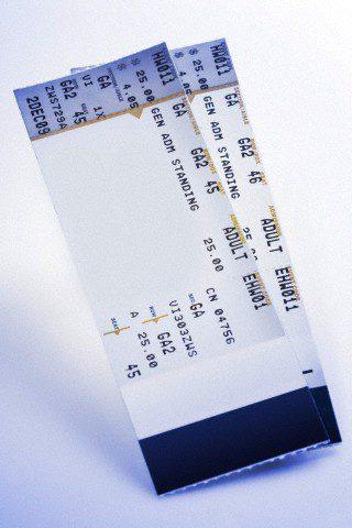 Concert tickets --- Image by © Ocean/Corbis