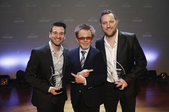 Co-Songwriters of the Year David Garcia (L) and Ben Glover (R) with ASCAP Chairman of the Board and President Paul Williams.