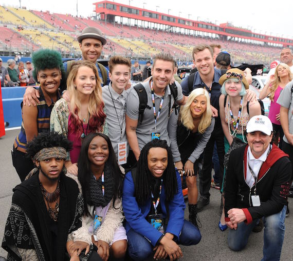 Scott Borchetta with American Idol contestants at Fontana. Photo: BMLG
