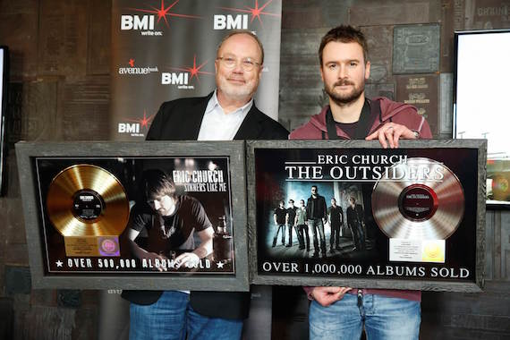 Pictured (L-R): Universal Music Group Nashville's Mike Dungan and singer-songwriter-artist Eric Church