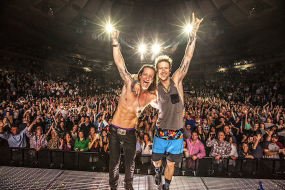 Florida Georgia Line's Tyler Hubbard (L) and Brian Kelley (R). Photo: Jim Wright