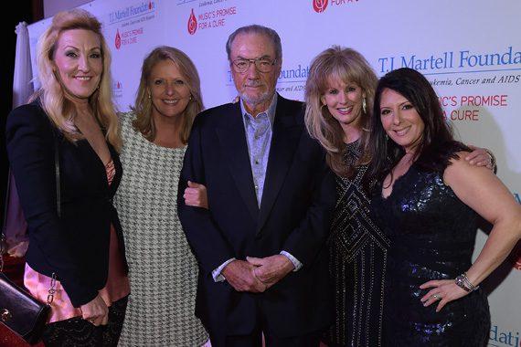 Ree Guyer Buchanan, T.J. Martell Foundation's Tinti Moffat, Jimmy Bowen, T.J. Martell Foundation's Laura Heatherly, and Danielle Bouharoun attend the T.J. Martell Foundation's 7th Annual Nashville Honors Gala