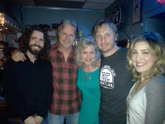 Pictured (L-R): Jordan Lawhead; Marc Beeson; Lisa Harless, Regions Bank; Dave Berg; Sarah Buxton at The Bluebird Cafe Thursday night.