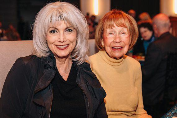 Emmy Lou Harris (L) with Jo Walker-Meador (R). Photo: CK Photo