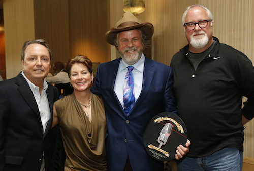 Pictured (L-R): BMI's Jody Williams, Kathleen Keen, Robert Earl Keen, Dualtone's Scott Robinson
