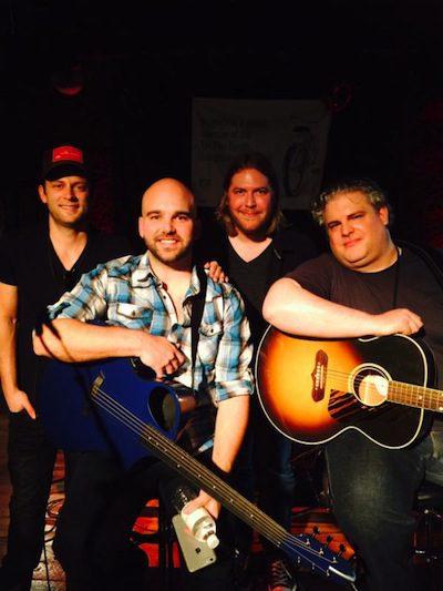 (l. to r.): Aaron Eshuis, Johnny Bulford, Chris Gelbuda and Jason Matthews at BB King's Blues Club early show. Credit: Preshias Harris