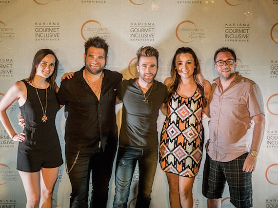 Pictured (L-R): Jen Morrison (Music & Social Media Promotions, CMT), Zach Swon, Colton Swon, Jordan Stephens (Music Strategy,CMT), & Bob Foglia (Marketing & Media Manager, Sony Music Nashville)