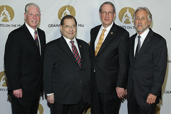 Picture (left to right): SESAC's Pat Collins, Rep. Jerrold Nadler, Rep. Bob Goodlatte and the Recording Academy's Neil Portnow.