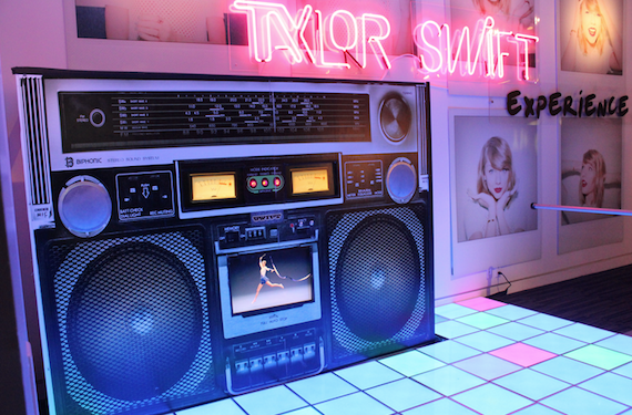 The Taylor Swift Experience at the Grammy Museum in Los Angeles. Photo: Grammy Museum